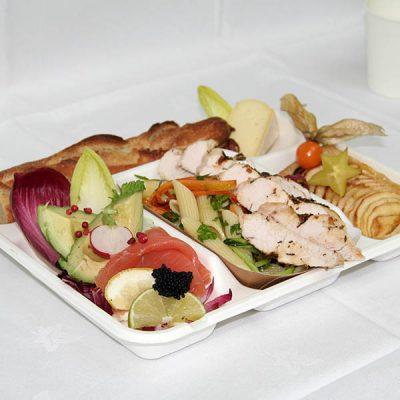 plateau repas au poulet La Poelee